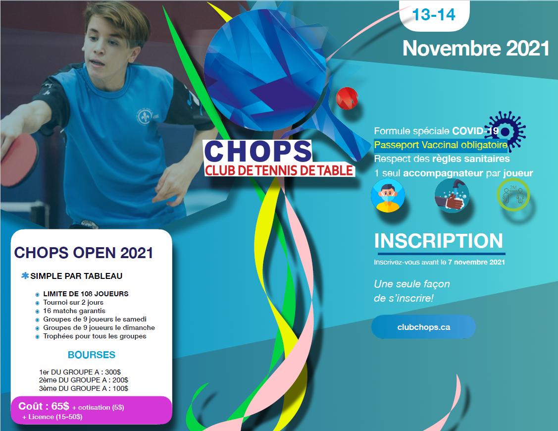 Enfin le retour du Chops Open – Édition 2021
